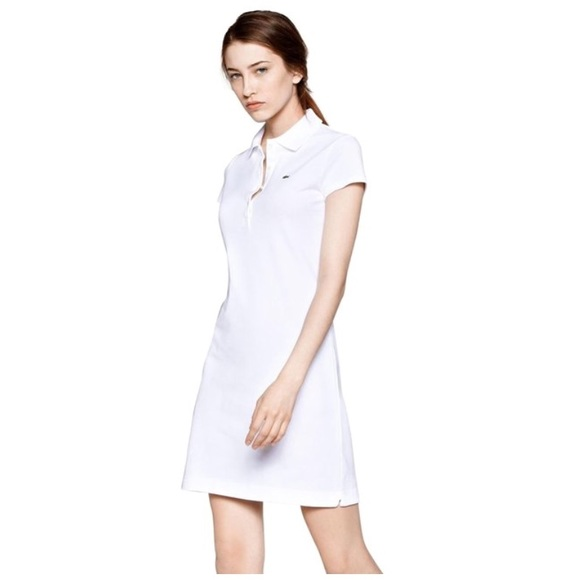 6727134bd2a56 Lacoste Dresses   Skirts - LACOSTE Short Sleeve Classic Pique Polo Dress